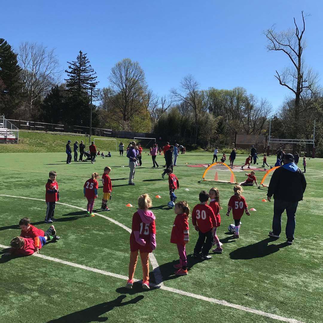 Beautiful day to start Little kid Spring Soccer at HR!!