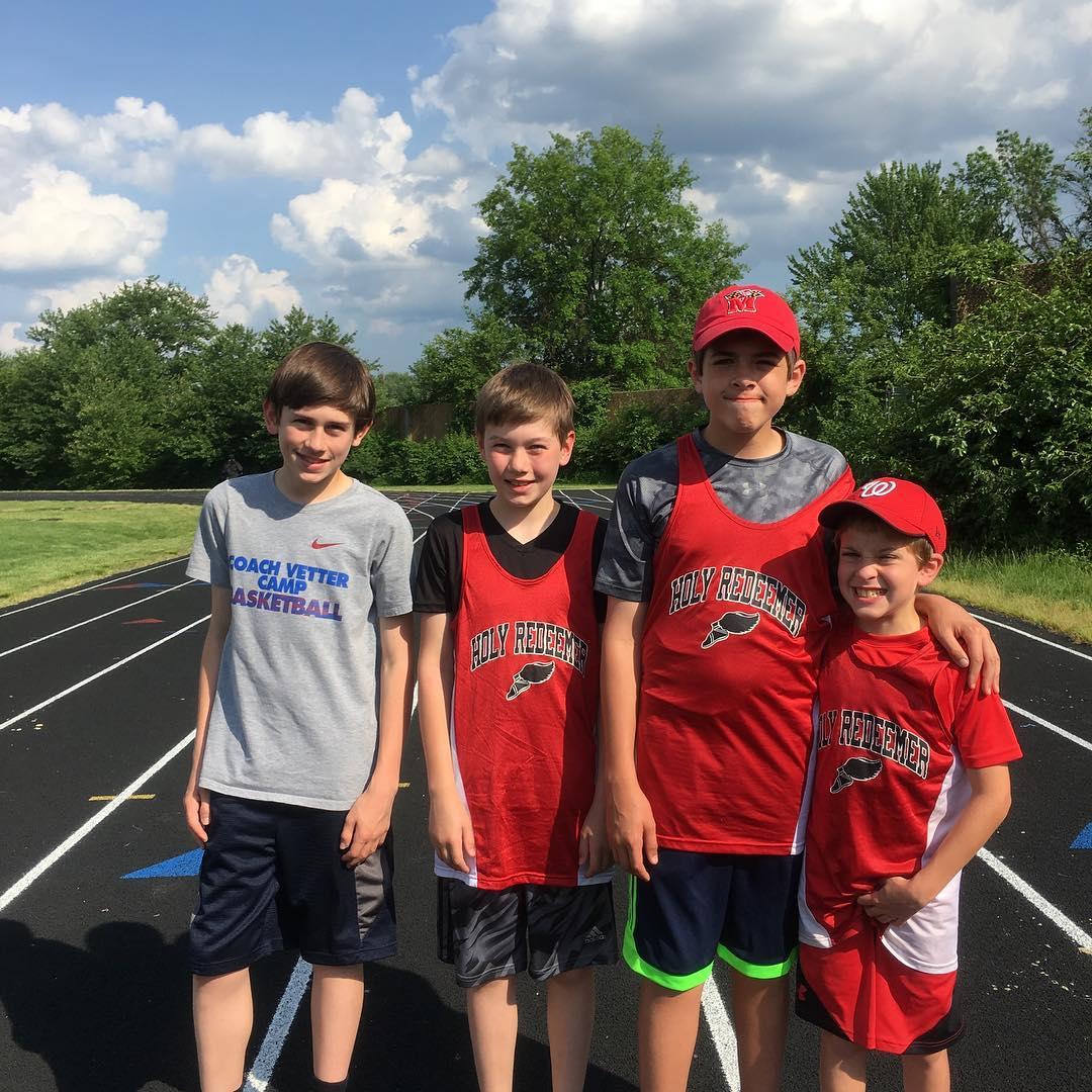CYO track and field shotput championship Lets go Cardinals!!