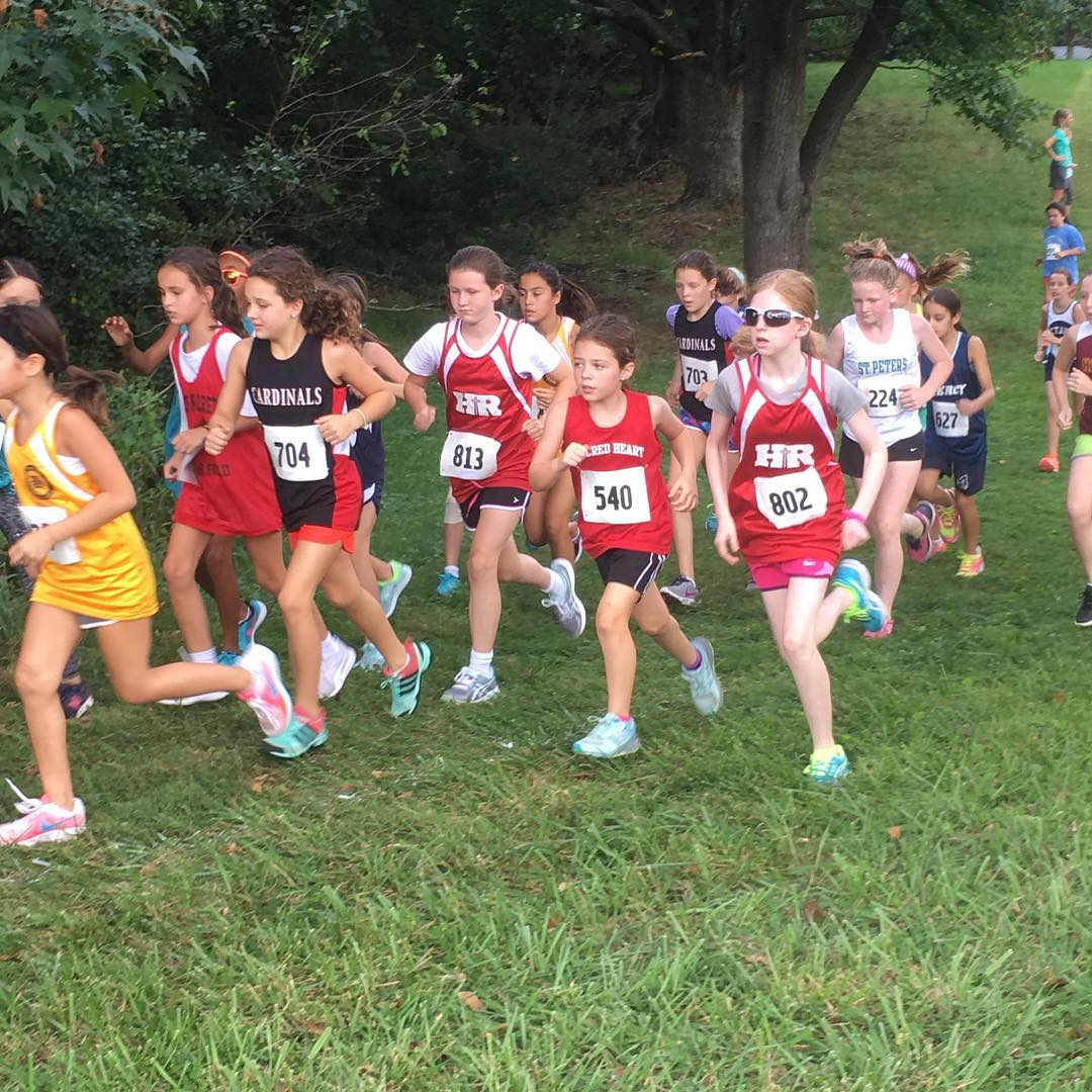 Cross country Cardinals fighting for position!