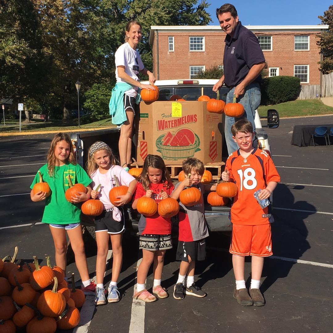 Football and Pumpkins Thats what we do at Homecoming!