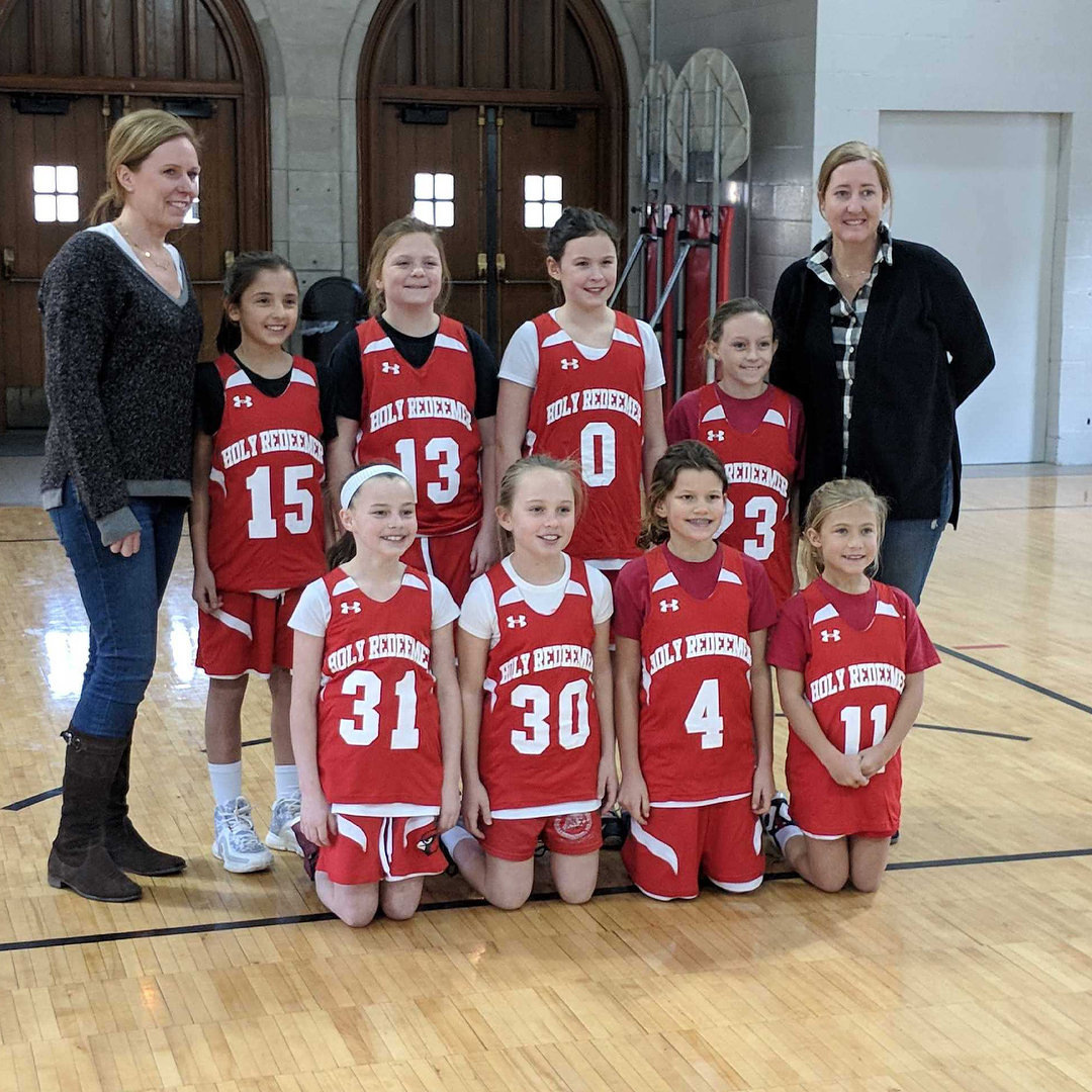34th grade girls pose after another good win!